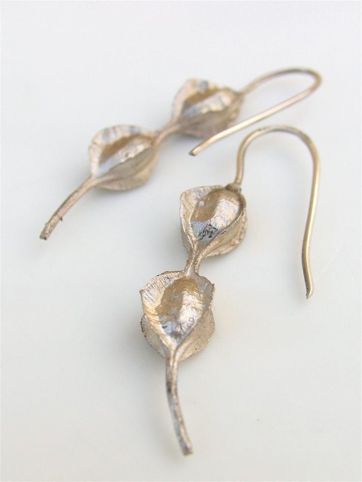 kowhai pod sterling earrings
