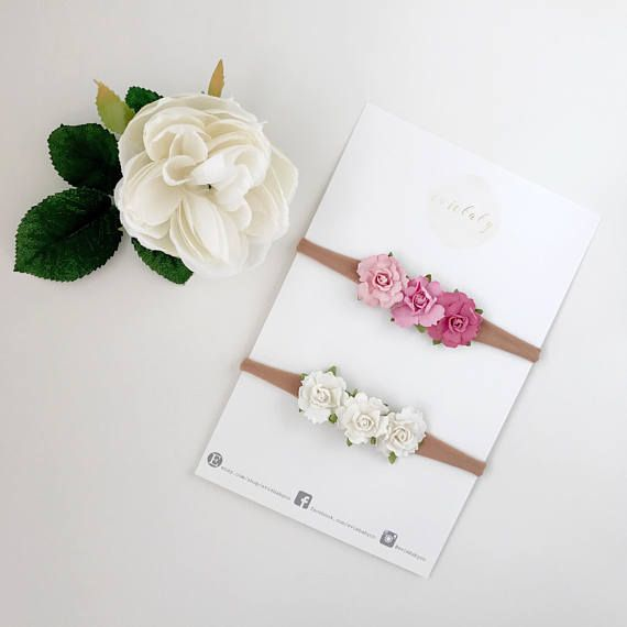 Baby headband, baby girl, newborn headband, baby girl headbands, newborn photo prop, floral headband, flower crown, flower headband Soft and delicate flower crown for your baby girl! These beautiful roses on a baby headband are ideal for both infants and toddlers. Our baby flower headband