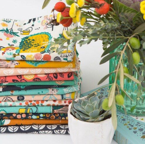 Hidden Garden ORGANIC fabric range now in stock.  A whimsical journey through the hidden garden.  Available as a bundle or separately cut to order.  Love this range!!