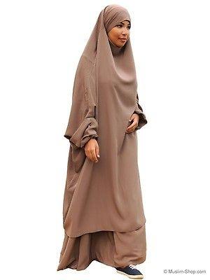 Ein schöner Jilbab von hoher Stoffqualität zum Wohlfühlen Weich fließend, verspricht hohen Tragekomfort Mit elastischen Bündchen