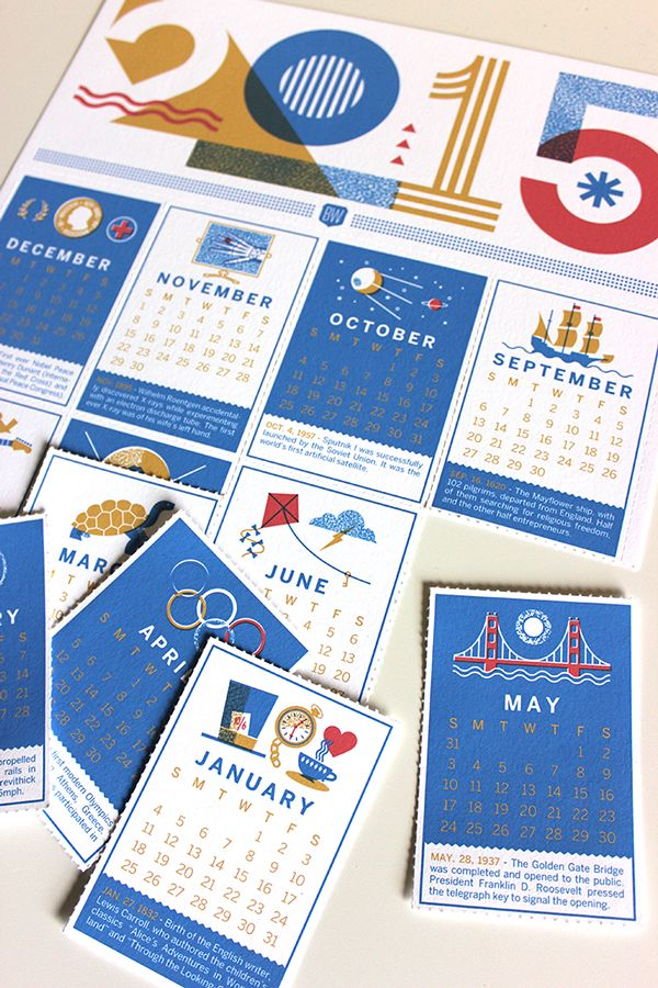 7 Striking 2015 Calendar Designs