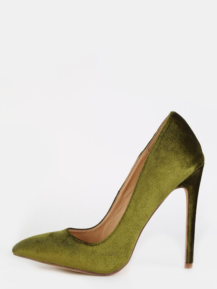 Online shopping for Stiletto Velvet Pumps OLIVE from a great selection of women's fashion clothing & more at MakeMeChic.COM.