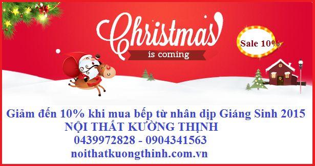 Giảm đến 10% khi mua bếp từ nhân dịp Giáng Sinh 2015: