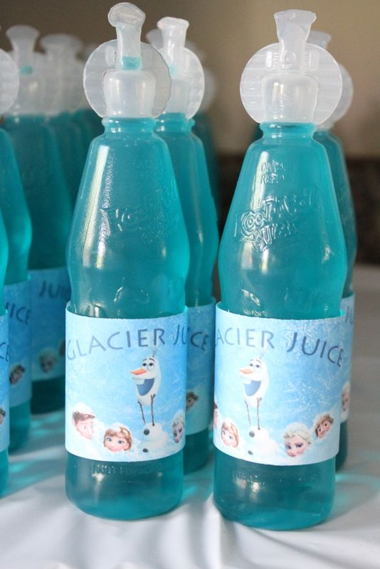 "LMAAP- Frozen Party ""Glacier Juice"" FREE Printables"
