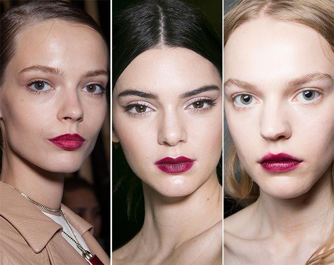 Spring/ Summer 2015 Makeup Trends: Berry Cherry Lips  #makeup #makeuptrends #beauty