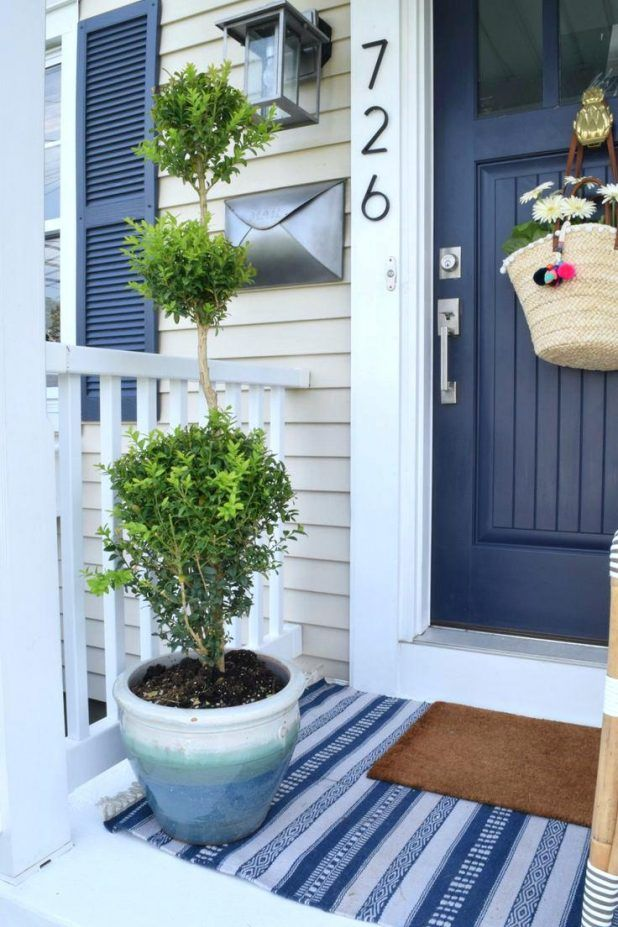 Front Door Colors Wreaths Green Meaning What Color Goes With A Red Brick House Dark Gray Front Porch Decorating Navy Front Door House With Porch