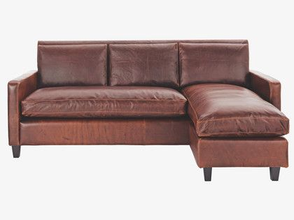 CHESTER BROWNS Leather Tan leather chaise sofa - HabitatUK