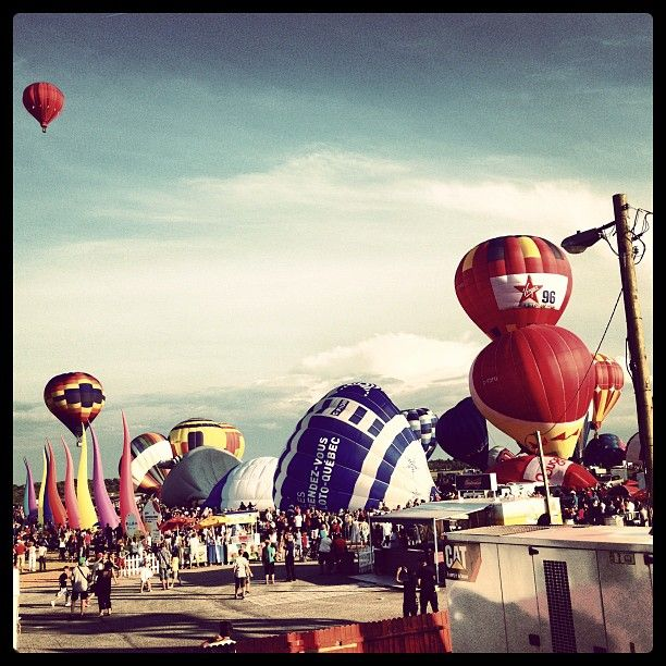 """mikainstagram """"At the festival. Hundreds of hot air balloons taking off at the same time. Unbeleivable"""" August 2012 in Quebec"""