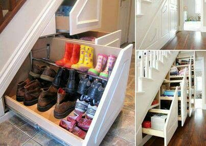 Hidden storage.. love this idea. It would be filled with Makayla's shoes lol
