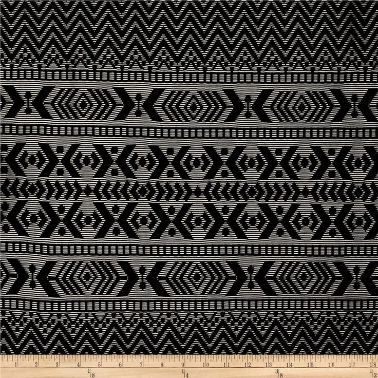 Stretch Crochet Lace Chevron Aztec Stripe Black from @fabricdotcom  This stretch lace fabric has a mesh backing and features 50% four-way stretch. Perfect for camisoles, flirty lingerie, and overlays on skirts and dresses.