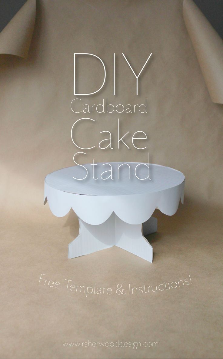 DIY Cardboard Cake Stand Free Template and Instructions! Want more great Ideas? Check out my blog at http://www.rsherwooddesign.com