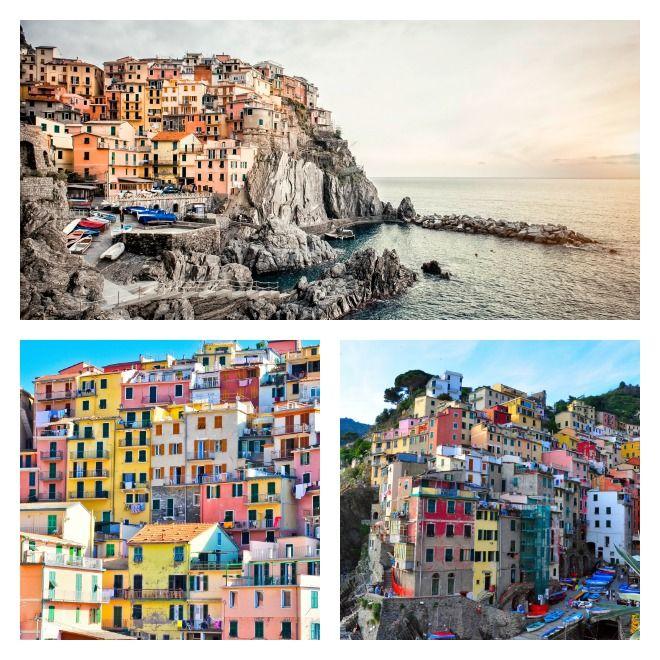 Cinque Terre i Italia er en nasjonalpark bestående av fem vakre fiskelandsbyer. Det perfekte fotomotiv!