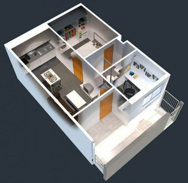 25 Suggestions To Take For Your Flat 1 Bedroom Apartment House Plans 1 Bedroom House