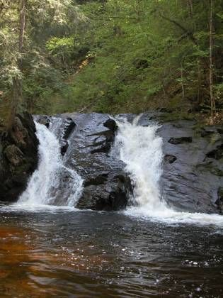 Slate River Falls located about 10 miles east of L'Anse,  Baraga Co,  MI