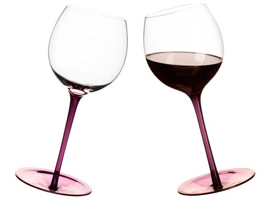 Sagaform bujajace się kieliszki do wina fioletowe We dwoje