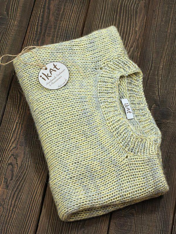 Autumn Grass Oversize Pullover, handmade by IKAT Knitwear