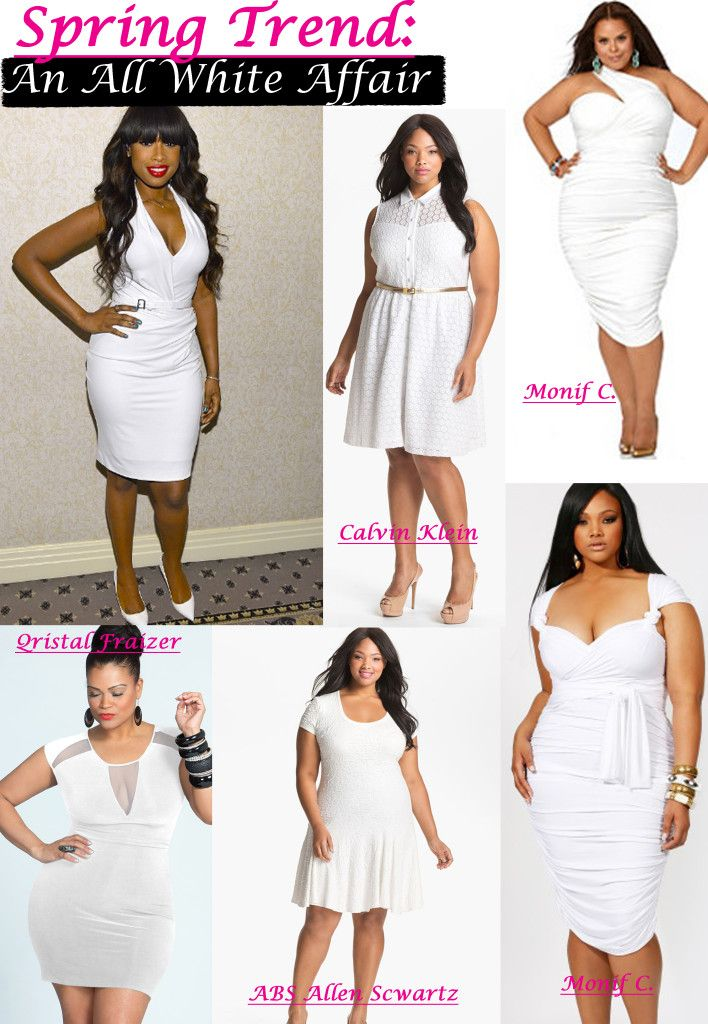 Stunning Plus Size All White Club Dresses Pictures ...