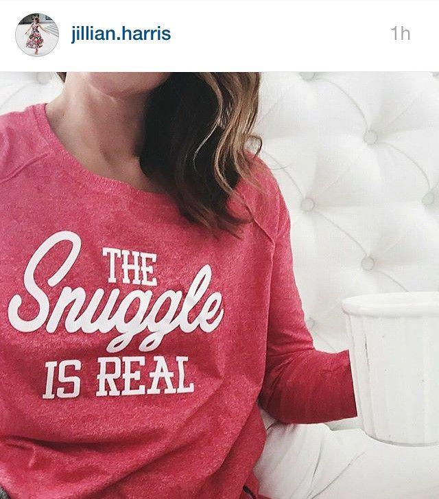Jillian Harris, wearing The Snuggle is Real Sweater @jillianmharris // Like what you see? Don't forget to follow us ~ Sweater Wonderland