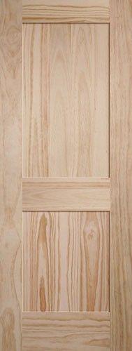 2 panel shaker pine interior wood door slab very modern feel discount interior doors for Where to buy cheap interior doors