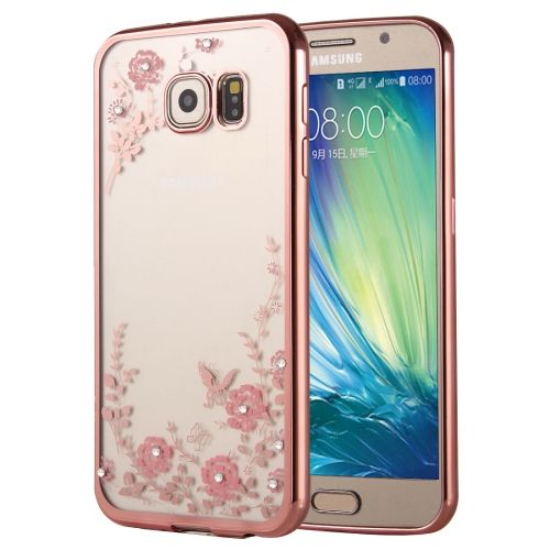 [USD2.32] [EUR2.08] [GBP1.66] Flowers Patterns Electroplating Soft TPU Protective Cover Case for Samsung Galaxy A5(2016) / A510(Rose Gold)
