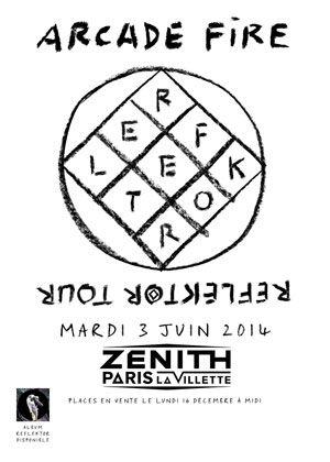 Arcade Fire Reflektor tour - 3 & 4 juin 2014, Zenith de Paris