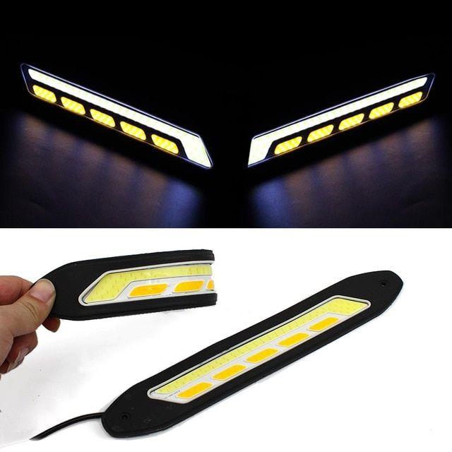 UNIVERSAL LED DRL LIGHTS DAYTIME RUNNING LIGHTS FOG COB WATERPROOF-BMW 2