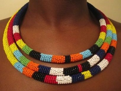 Collares Africanos: Fashion, Beaded Necklaces, Masai Hand, African Maasai, Maasai Rope, African Jewelry, Hand Made, Rope Beaded, Beaded Neckline Necklace
