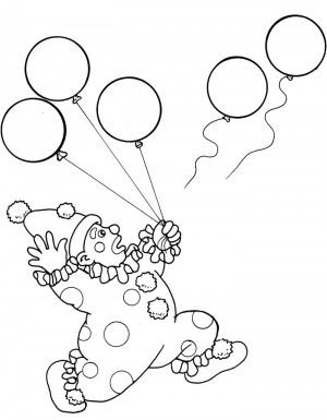 circus clowns color page coloring pages for kids miscellaneous coloring pages printable coloring pages color pages kids coloring pages - Clown Balloons Coloring Page