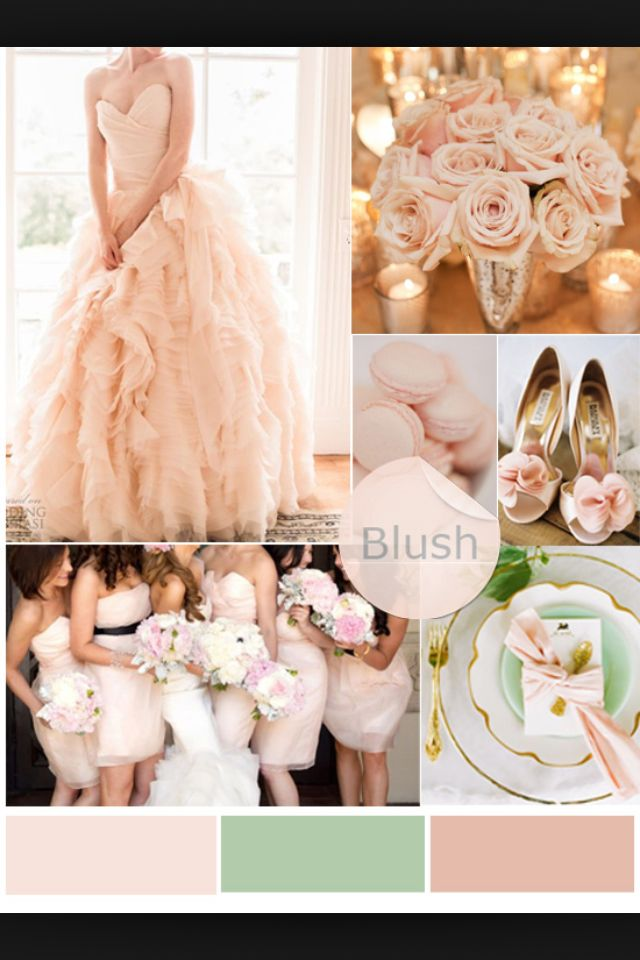 Want these colors for my wedding with a touch of a brighter pink and let's not forget metallics love me some gold and sliver to