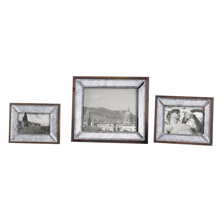 Daria Antique Mirror Photo Frames, Set of 3 by Uttermost