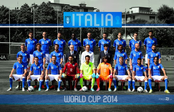 Official Italy World Cup 2014 Team Photos – Walls/Posters