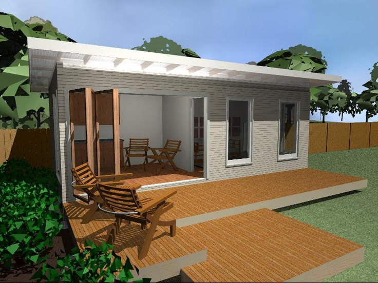 """My new New Little House, I have 5 places I call the """"The Willow"""" set. The is idea is use them an a   Home Office, Granny Flat, Guest Flat or a Cabin   http://www.newlittlehouse.com.au/"""