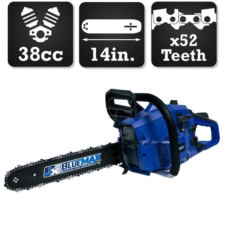Blue Max 14 in. 38cc Heavy Duty Gas Chainsaw
