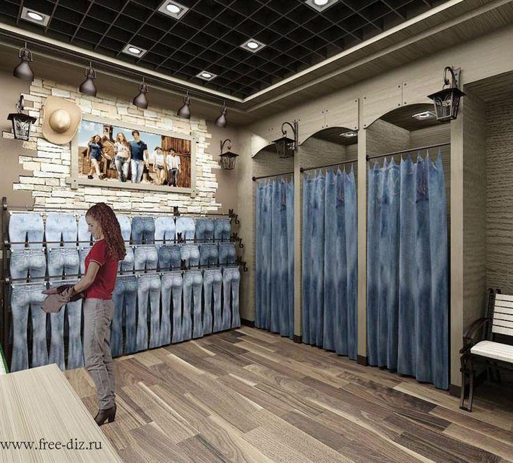 Оформление магазина одежда джинсы