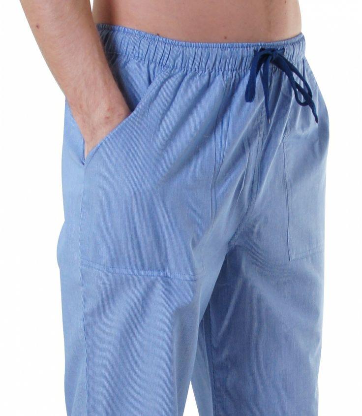 Bequem & stylish - mit den brandneuen Pyjamahosen von DEAL kein Widerspruch.  Die behagliche Baumwolle und der lässige Schnitt mit langem Bein und aufgenähten Taschen lassen diese Pyjamahose zum Wohlfühl-Erlebnis werden. Für weitere Infos: http://www.boxxers.de/DEAL-Homie-Streifen-hellblau-weiss