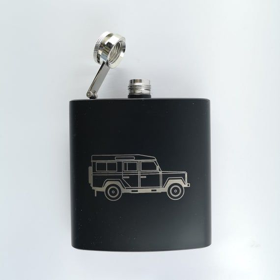 Landrover 6oz Stainless Steel Hip Flask