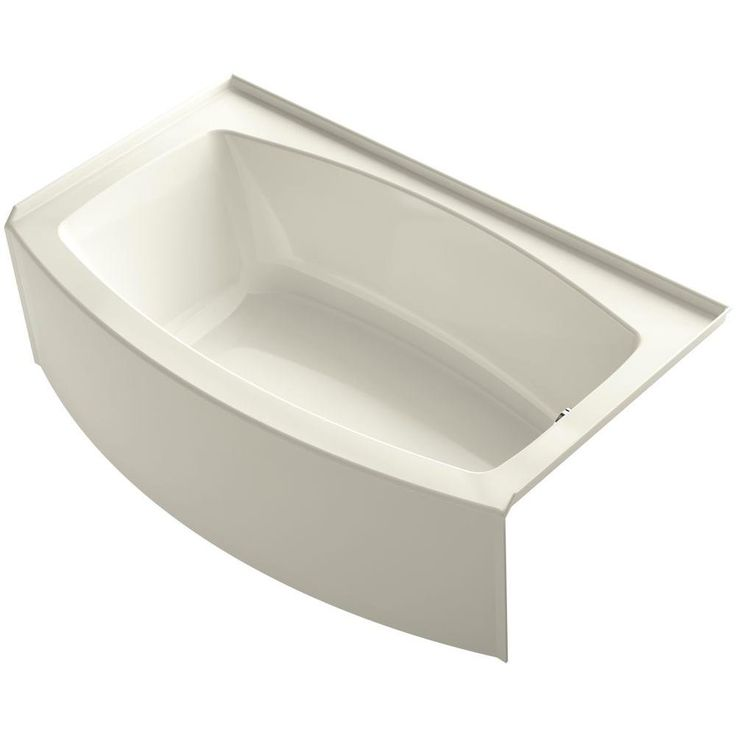 kohler expanse 5 ft right drain soaking tub in biscuit with bask heated surface - Kohler Waschbecken Schneidebrett