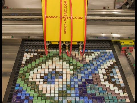 Mosaic tile layer, creates mosaic pattern. Mosaic assembling machine 4 suction cup. – YouTube