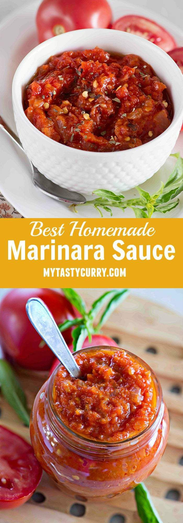 This classic homemade marinara sauce recipe is super quick, and easy to make. It takes twenty minutes to make, and can be made with easily available ingredients in your kitchen. This recipe of homemade marinara sauce is easy, delicious and best thing is you can put together it in just about 20 minutes.