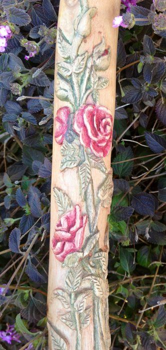 "Meet ""Rose"" the carved walking stick - by TJ65 @ LumberJocks.com ~ woodworking community"