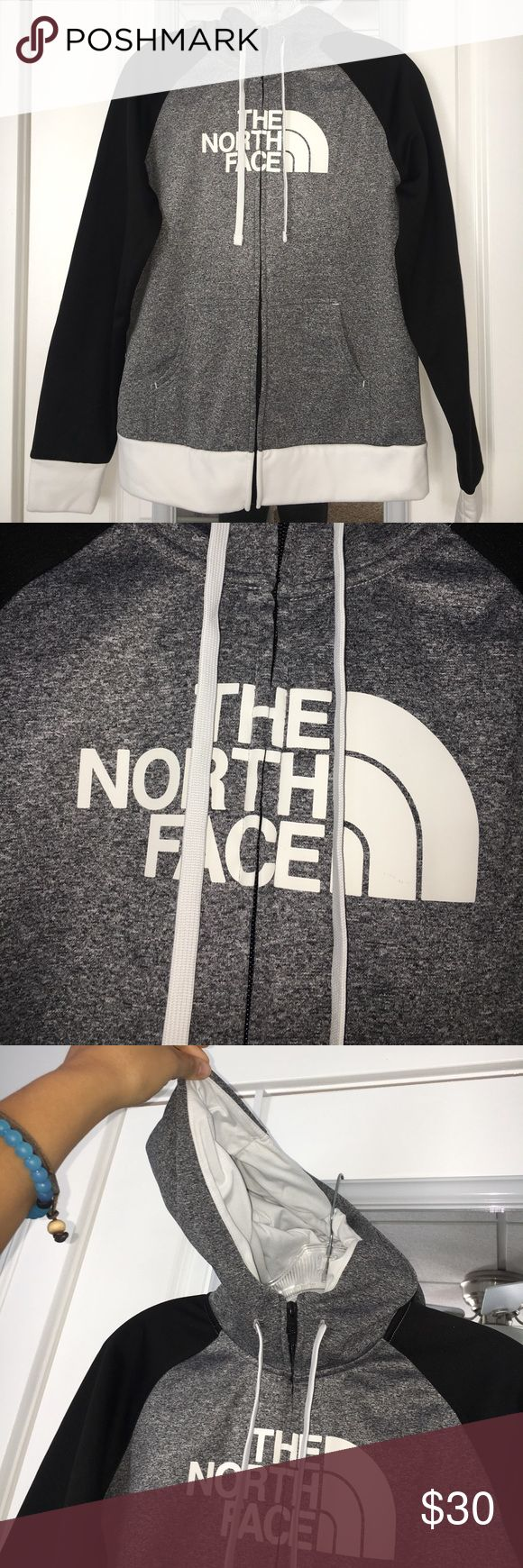 NORTH FACE ZIP UP WITH HOOD very cozy inside. really good condition North Face Jackets & Coats