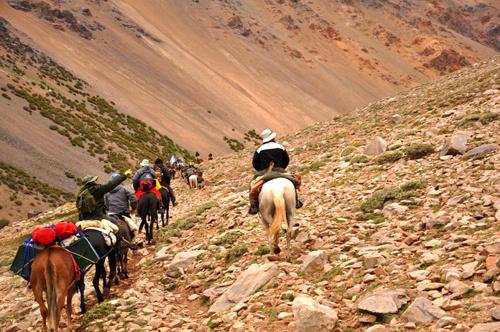 Cruce de Los Andes a caballo en San Juan