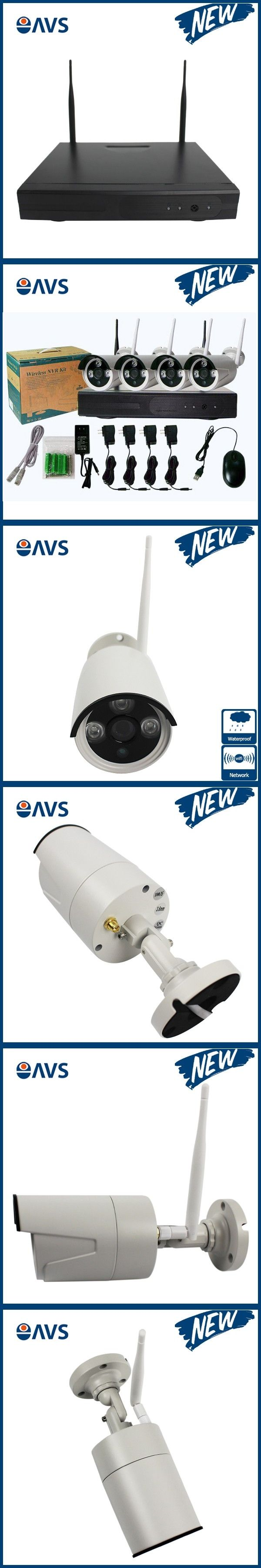 Security CMOS HDMI 720P P2P Wireless HD Outdoor IR Night Vision IP Camera WIFI CCTV Camera System Support 1TB/4TB HDD