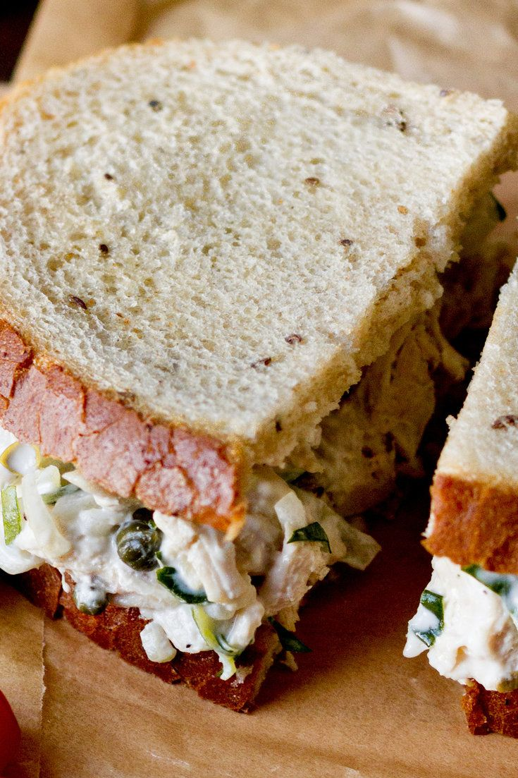 NYT Cooking: Originally printed in 1981, here is Craig Claiborne's take on the classic chicken salad sandwich. In his version, a combination of mayonnaise (preferably homemade) and yogurt is used which yields a lighter, tangier sandwich filling. He calls for using poached chicken, but the leftover roast chicken from last night would work beautifully as well.