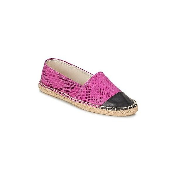 Betty London GREYPAX Espadrilles (€26) ❤ liked on Polyvore featuring shoes, sandals, purple, purple shoes, purple sandals, espadrille sandals and espadrilles shoes