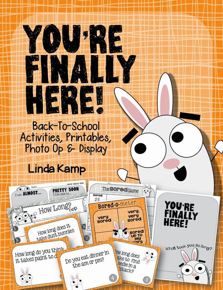 You're Finally Here! Book companion pack for You're Finally Here! by Melanie Watt, author of Scaredy Squirrel.  A perfect book for the first day of school with a week's worth of getting to know you activities to go with it! $
