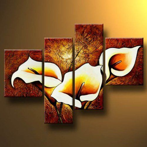 Santin Art Splendour Modern Canvas Art Wall Decor Floral Oil Painting Wall  Art Santin
