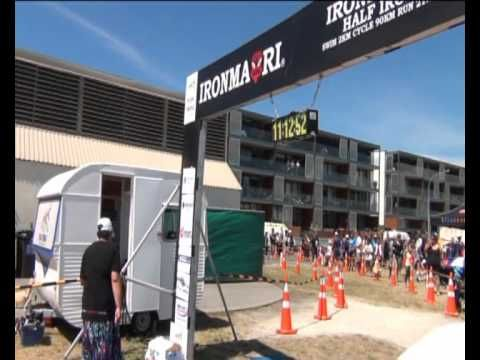 Watch the final seconds as Kevin Nicholson wins the 2011 IronMaori triathlon in Napier, New Zealand