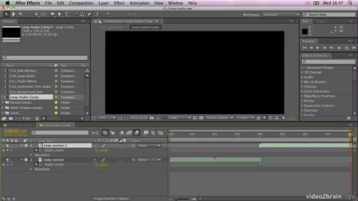 Editing and Looping Audio in After Effects