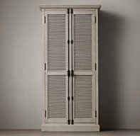 Shutter Double-Door Cabinet - RH's Shutter Double-Door Cabinet:Angled louvers, an architectural detail first used in ancient Greece, have found a new place in the home.